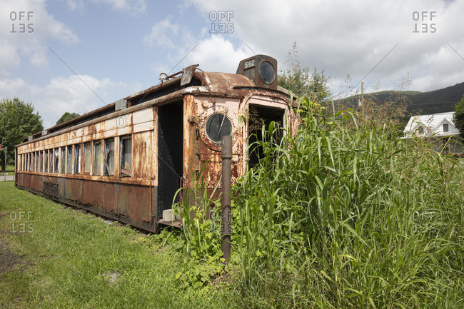 Abandoned railway car in Virginia, USA