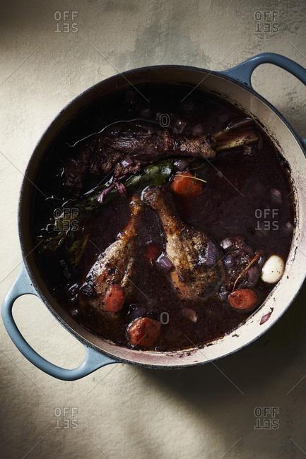 Duck legs in a casserole