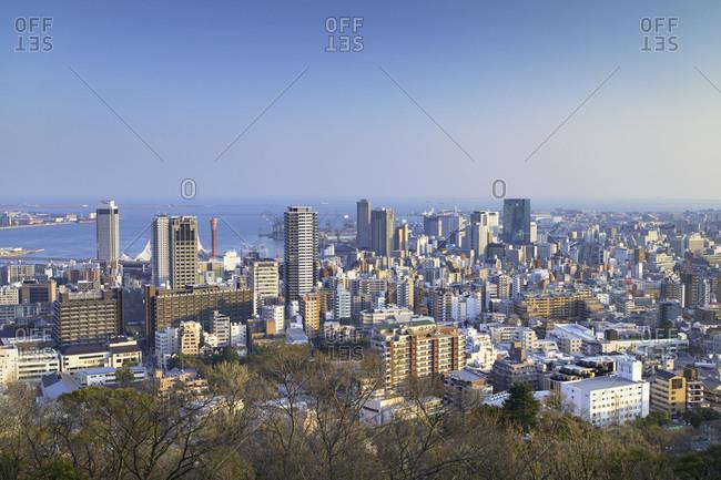 March 27, 2018: View of Kobe skyline, Kobe, Kansai, Japan, Asia