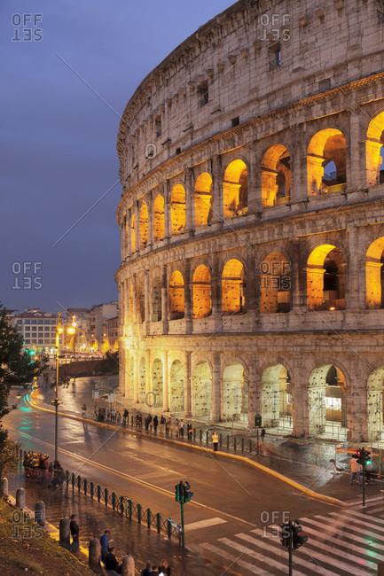 November 3, 2017: Colosseum (Colosseo), UNESCO World Heritage Site, Rome, Lazio, Italy, Europe