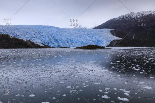Remote El Brujo Glacier, Asia Fjord, Bernardo O'Higgins National Park, Chilean Fjords, Southern Patagonia Icefield, Chile, South America