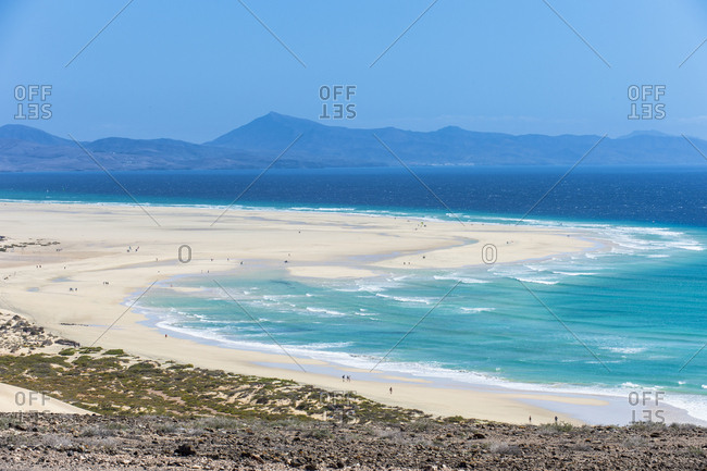 Beautiful lagoon on Risco Beach, Fuerteventura, Canary Islands, Spain, Atlantic, Europe