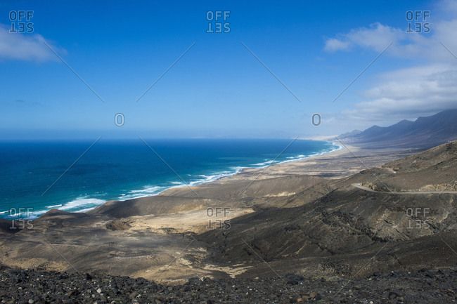 Remote Cofete Beach, Fuerteventura, Canary Islands, Spain, Atlantic, Europe