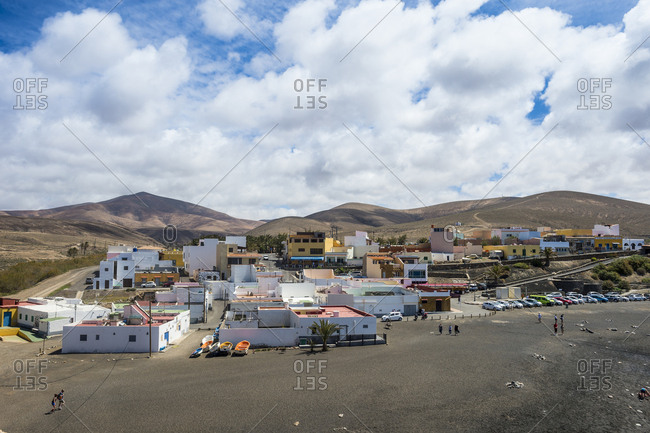 March 24, 2018: The village of Ajuy, Fuerteventura, Canary Islands, Spain, Atlantic, Europe