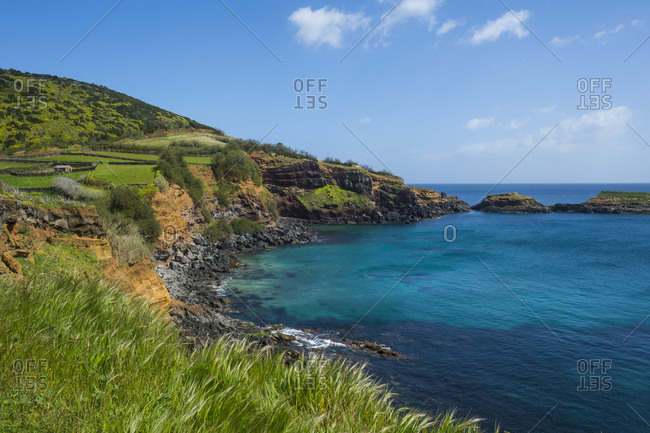South coastline of the Island of Terceira, Azores, Portugal, Atlantic, Europe