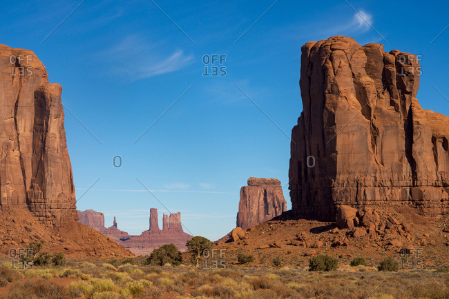 The Monument Valley Navajo Tribal Park, Arizona, United States of America, North America