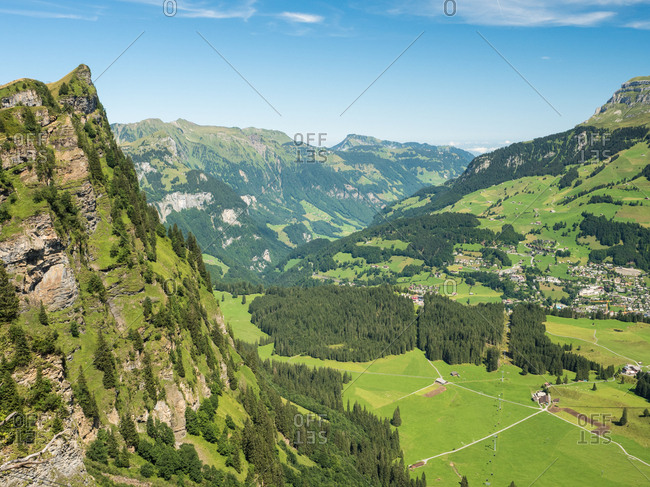 Mountain peak, Alps, near Engelberg, Switzerland, Europe