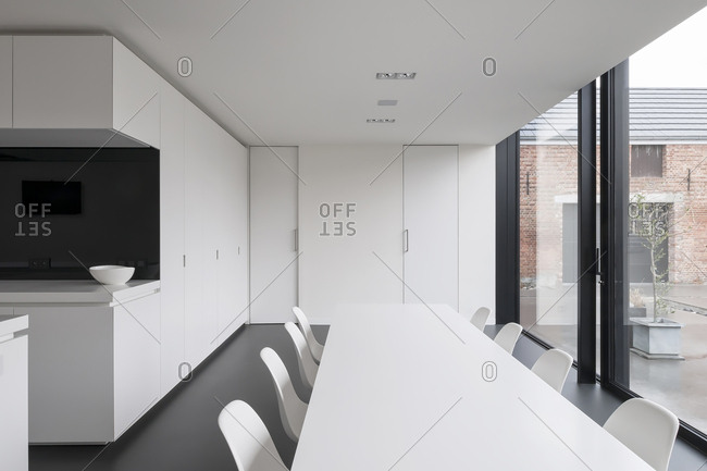 Interior of modern minimalist space