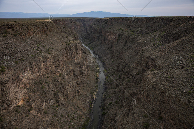 The Rio Grande as it flows through its deep canyon in Northern New Mexico.