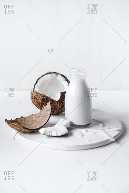 Coconut milk with fresh coconut