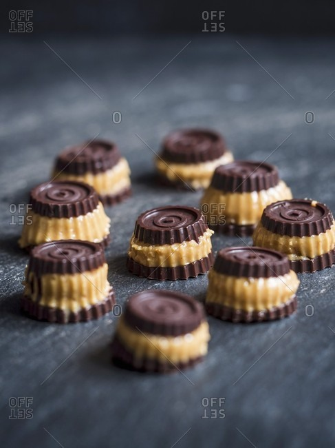 Homemade mini bite peanut butter cups