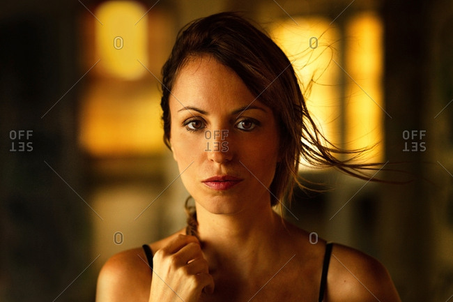 Tender beautiful woman in soft light