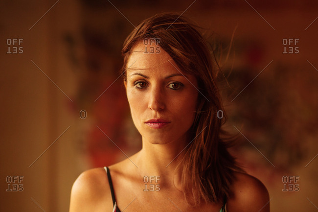 Tender beautiful woman in soft light