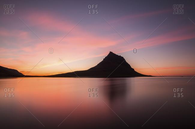 Silhouette of Kirkjufell