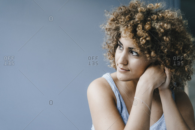 Portrait of a daydreaming woman