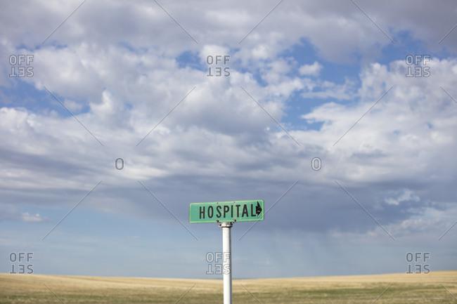 Rural hospital sign