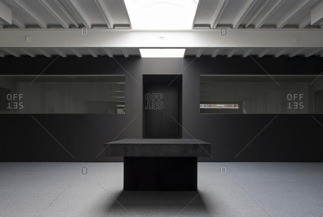 Interior of modern showroom