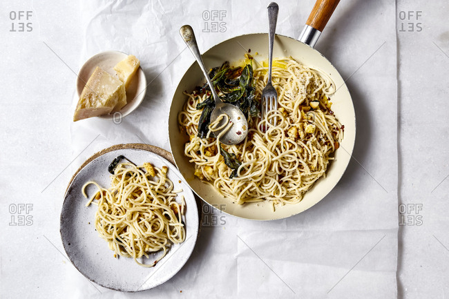 Pasta with buttered sage