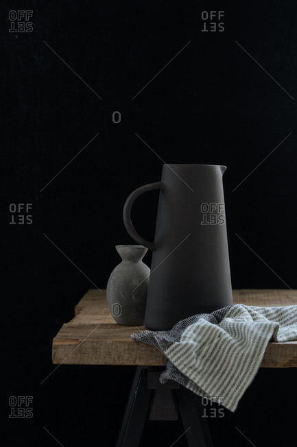 Pitcher on wooden table