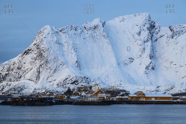 Europe, Norway, Nordland, Lofoten, Moskenes, Reine, Winter Lofoten