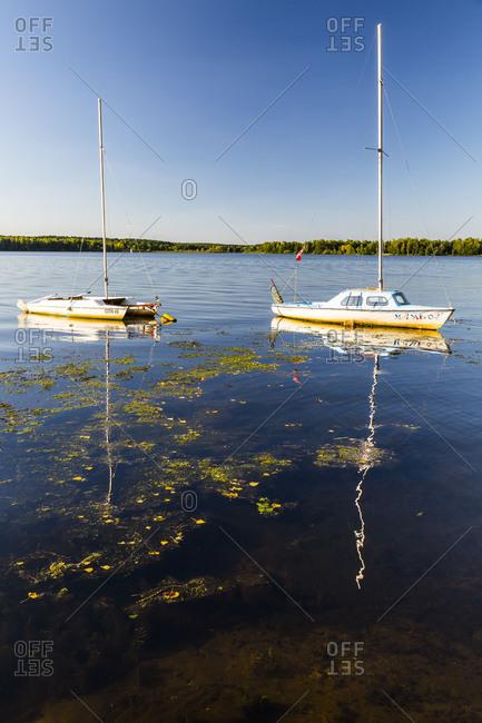 August 7, 2018: Europe, Poland, Sulejowski Reservoir. Lodzkie. Cental Poland