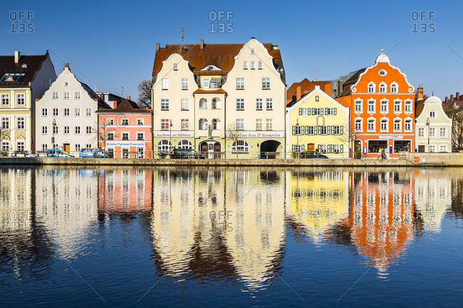 January 30, 2017: Europe, Germany, Bavaria, Landshut, City. Lower Bavaria. Old town