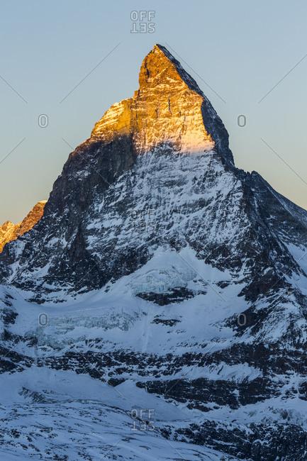 Europe, Switzerland, Valais, Zermatt, View from Gornergrat, Matterhorn