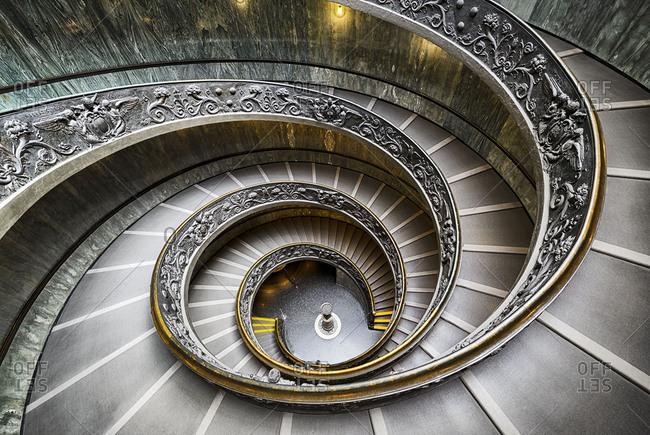 September 15, 2017: Bramante Staircase in Vatican City