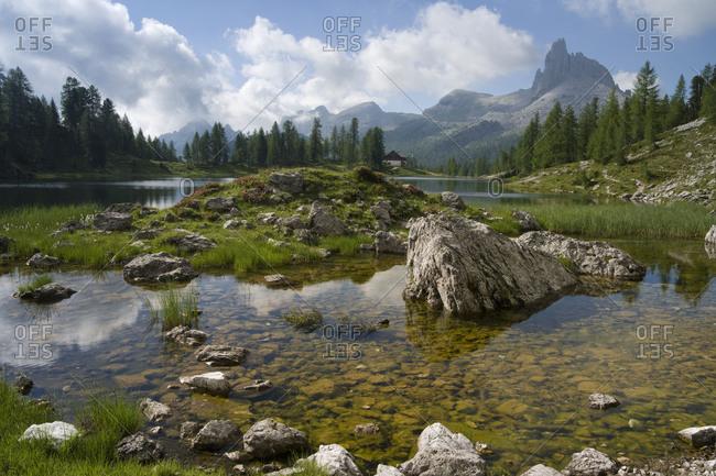 Lago Federa, Rifugio Palmieri, Croda da Lago, Dolomites, Italy