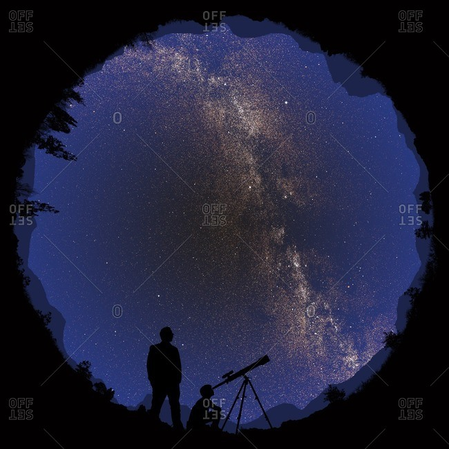 360 degree night sky