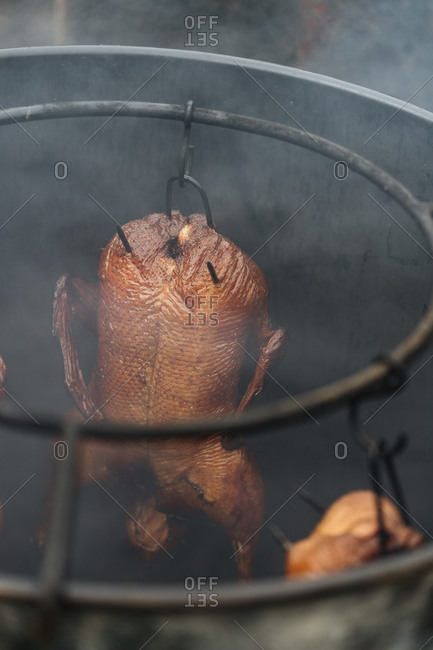 Turkey in a smoker