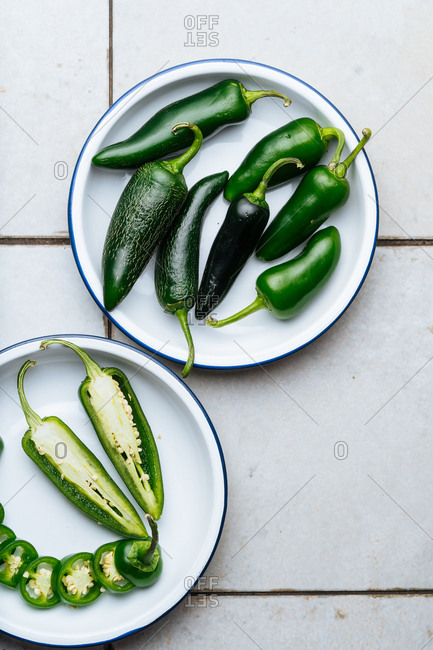 Jalapenos whole and sliced