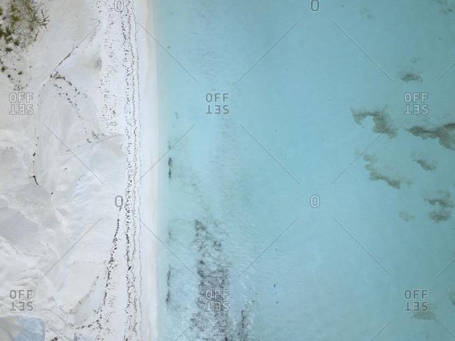 Aerial view of Maldives beach