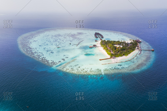 Aerial view of seascape at Maldives
