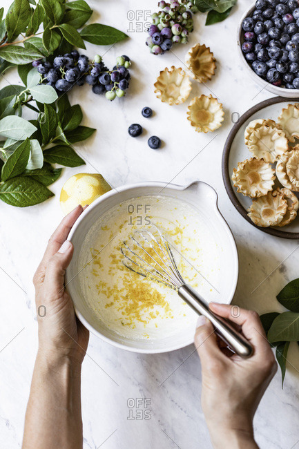 Ricotta Lemon Mixture for blueberry tart