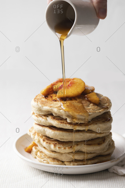 Maple Peach Pancakes