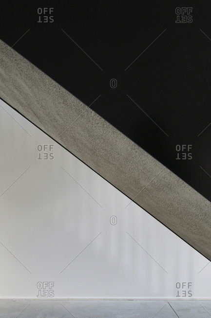 Concrete on interior stairs