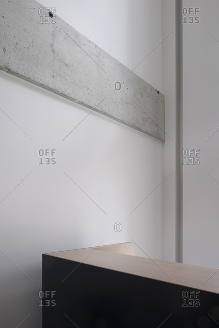 Concrete detail on interior wall
