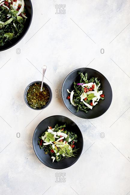 Italian Style Salsa Verde Kale Salad