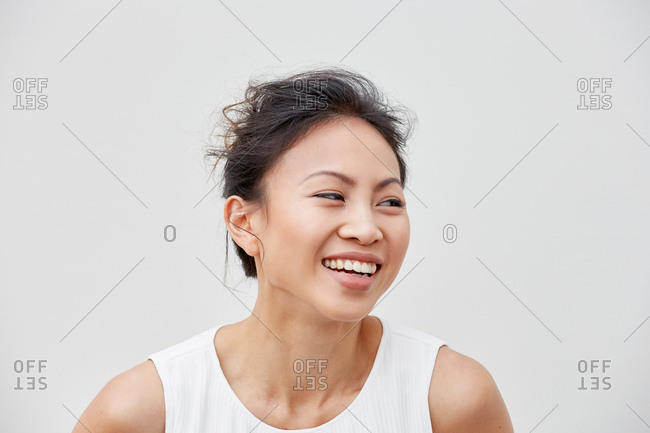 Portrait of woman laughing
