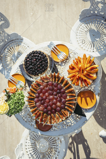 Dessert table outdoor