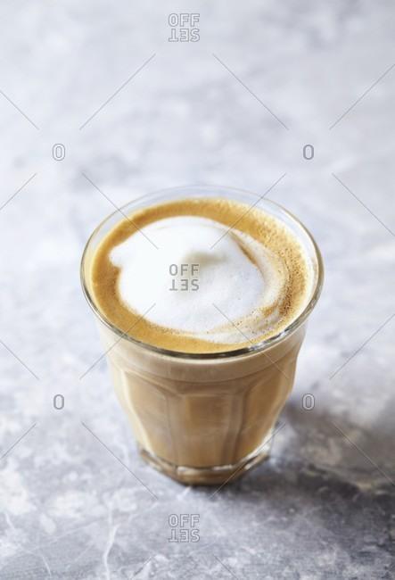 A glass of cafe au lait