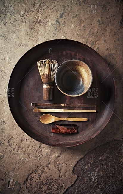 Still life with Japanese Tea Utensils
