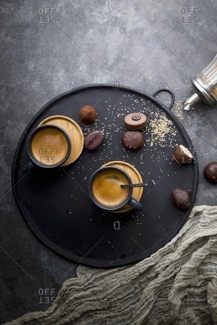 Espresso and chocolate pralines