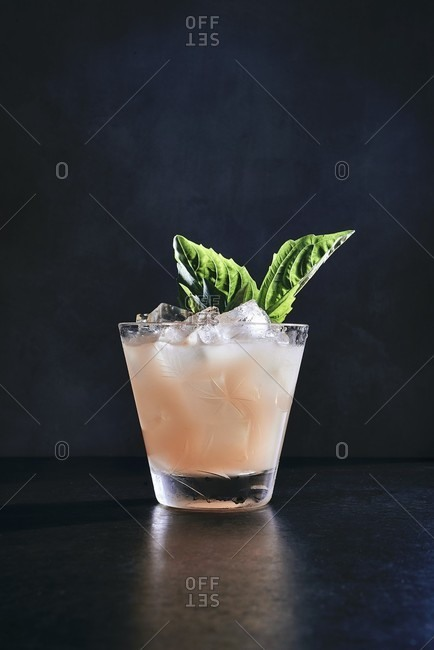 A grapefruit, vodka and basil smash