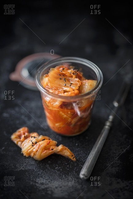 Kimchi in a glass