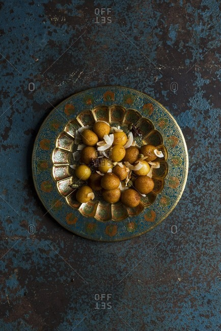 Gulab Jamun (fried dough balls in sugar syrup, India)