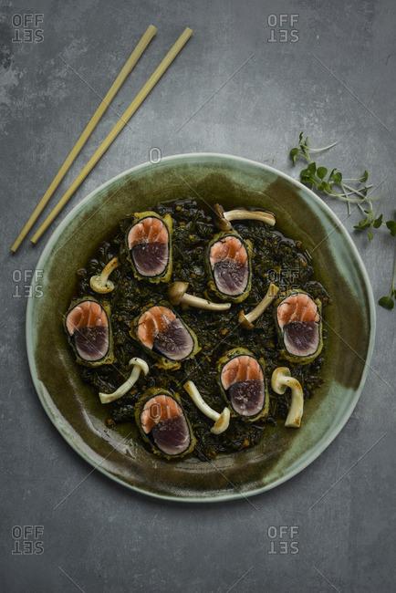 Maki sushi with mushrooms - Offset