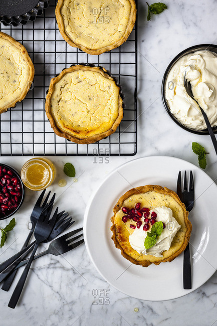 Lemon and Goats Cheese Tart with Aniseed Pastry