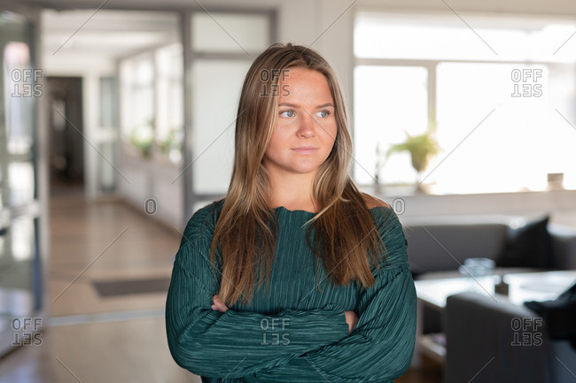 Young professional woman in an office